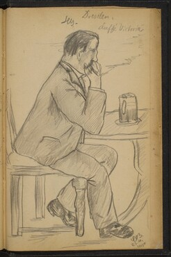 Man at a Table Smoking