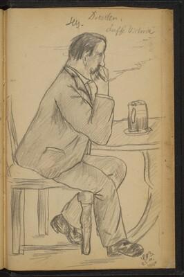 Man at a Table Smoking
