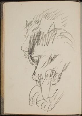 Fressender Löwe (Lion Eating) [p. 6]