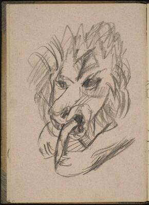 Fressender Löwe (Lion Eating) [p. 22]
