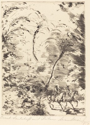 Oriental Landscape with Two Riders