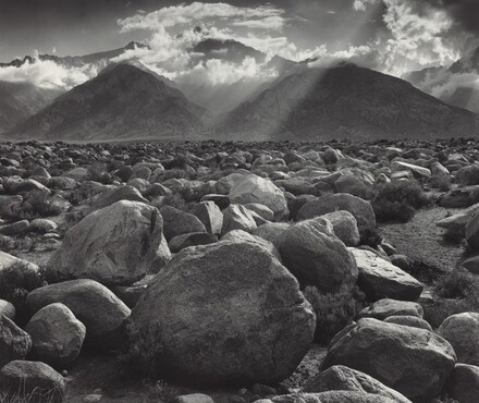 Mount Williamson, the Sierra Nevada, from Manzanar, California