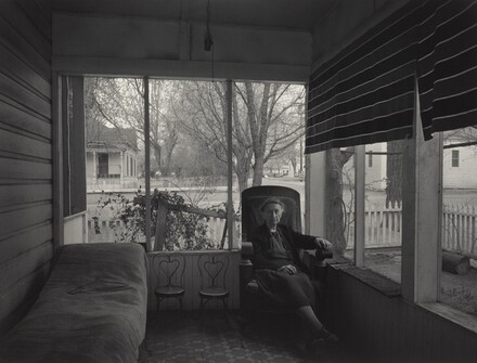 Mrs. Gunn on Porch, Independence, California