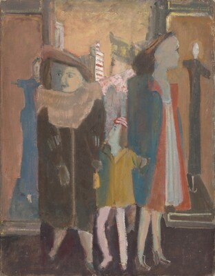 Untitled (three women and a child with mannequins)