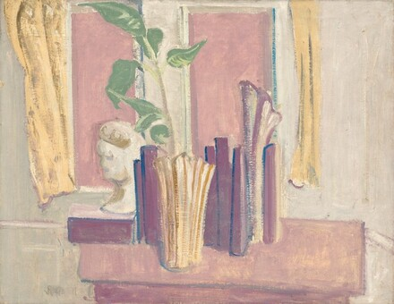 Untitled (still life in front of window)