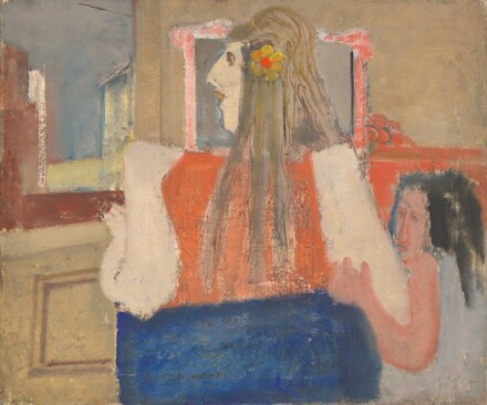 Untitled (woman and girl by a window)