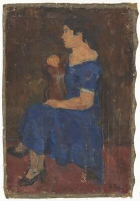 Minna [or] The Blue Dress