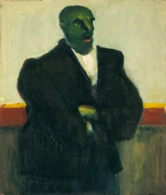 Untitled (man with green face)