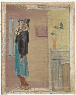 Untitled (woman standing by a window)