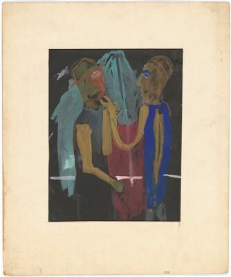 Man Kissing Woman's Hand [recto]