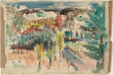 Landscape with Trees and Hills [recto]