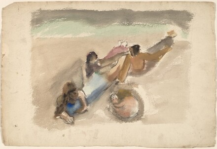 Figures Reclining on a Beach