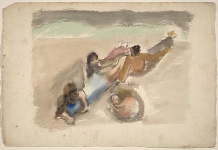 Figures Reclining on a Beach