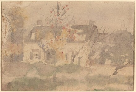 House Set in Landscape [verso]
