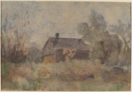 House Set in Wooded Landscape [verso]