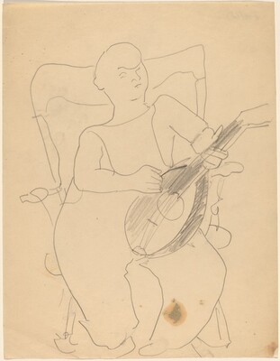 Seated Boy with Lute