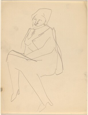Seated Woman, Head Tilted to the Right