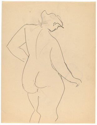 Three-quarter Length Nude, Seen from the Back [recto]