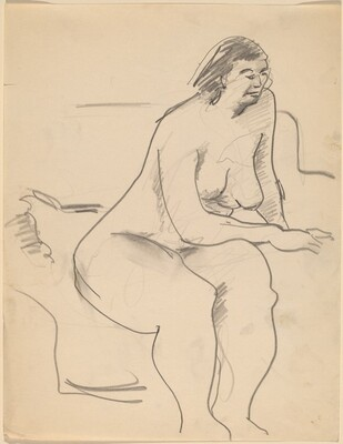 Seated Nude Leaning to the Right, Arm Resting on Thigh
