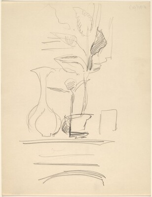 Still Life with Vase and Potted Plant