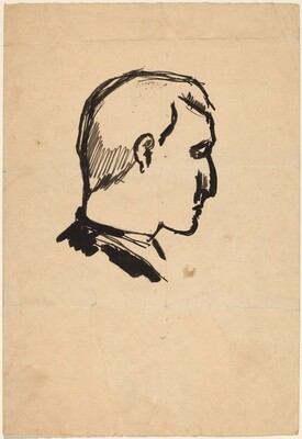 Head of a Man in Profile to the Right