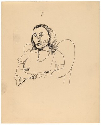 Half-Length Portrait of a Woman Seated in an Upholstered Chair