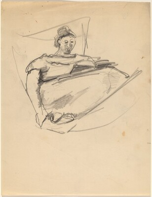 Woman in a Hammock, Reading