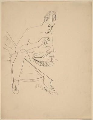 Seated Ballerina Holding Open Box