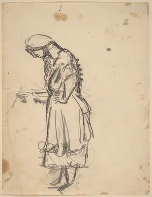 Woman in a Long Dress
