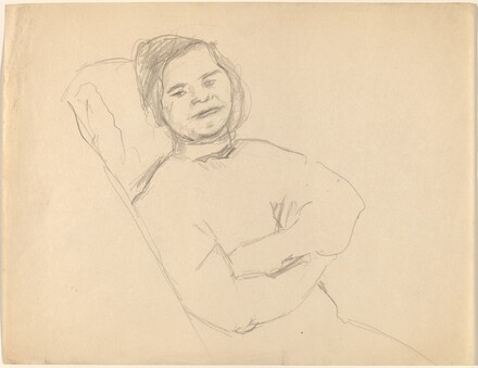 Seated Woman, Head Turned to Viewer, Arms Crossed