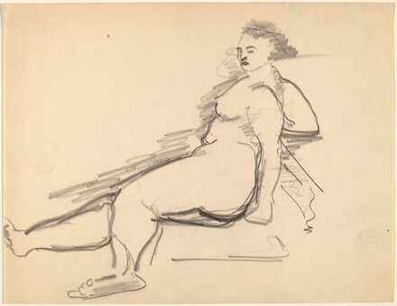 Reclining Nude, Right Arm Supporting Torso