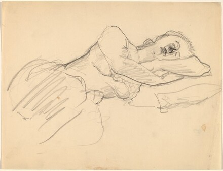 Sleeping Woman, Head Resting on Arms