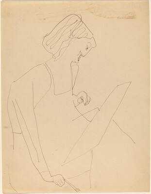 Seated Woman Turned to the Right, Painting
