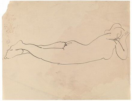 Female Nude Lying on Stomach
