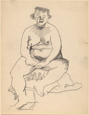 Seated Nude Facing Front with Hands Crossed