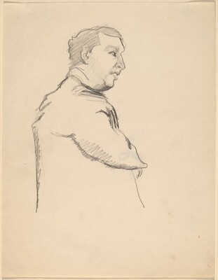 Half-Length Portrait of a Man in Profile to the Right