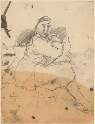Seated Figure Turned to Right