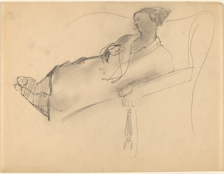 Woman Reclining on Sofa
