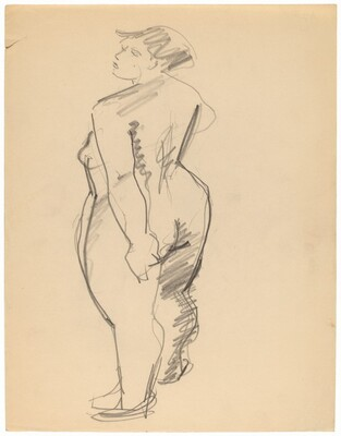 Nude Turned to the Left, Three-quarter View, Seen from the Back