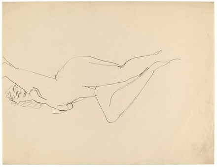 Nude Reclining on Back, Torso Arched