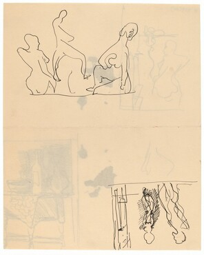Two Groups of Figure Sketches [recto]