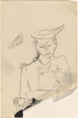 Half-Length Portrait of a Woman Wearing a Hat