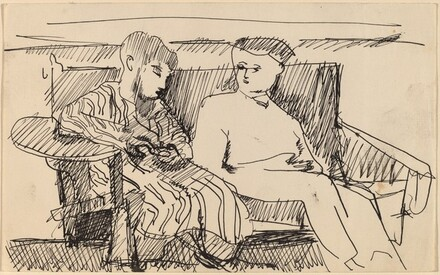 Couple Seated on Bench