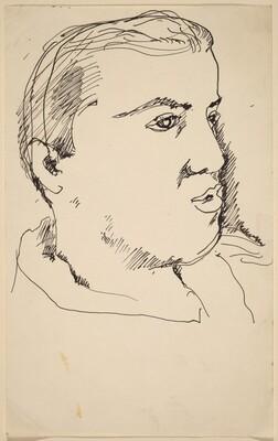 Portrait Head of a Man Looking Left