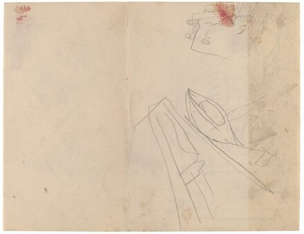 Studies of boats and a head [verso]