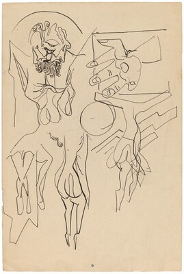Figure Studies (Crucifixions) [recto]