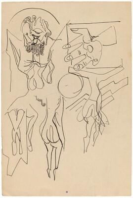 Figure Studies (Crucifixions) [recto]