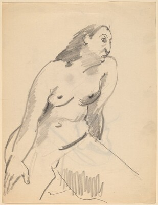 Seated Nude with Head Turned Right [recto]