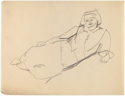 Reclining Female, Leaning on Left Elbow