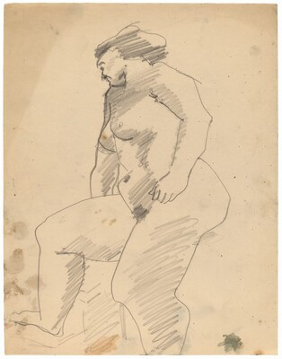 Standing Female Nude, Right Knee Raised, in Profile to Right